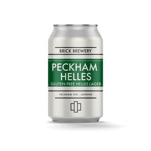 330ml Can of Peckham Helles Gluten Free Beer from Brick Brewery in Peckham, London