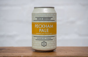 330ml Can of Peckham Pale Beer from Brick Brewery in Peckham, London - Close Up