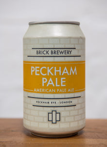 330ml Can of Peckham Pale Beer from Brick Brewery in Peckham, London
