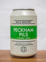 Load image into Gallery viewer, 330ml Can of Peckham Pils Beer from Brick Brewery in Peckham, London