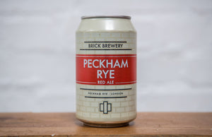 330ml Can of Peckham Rye Beer from Brick Brewery in Peckham, London - Close Up