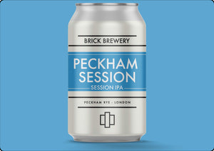 330ml Can of Peckham Session IPA from Brick Brewery in Peckham, London - Render