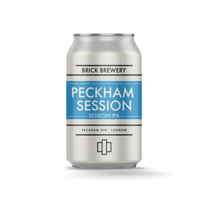 330ml Can of Peckham Session IPA from Brick Brewery in Peckham, London