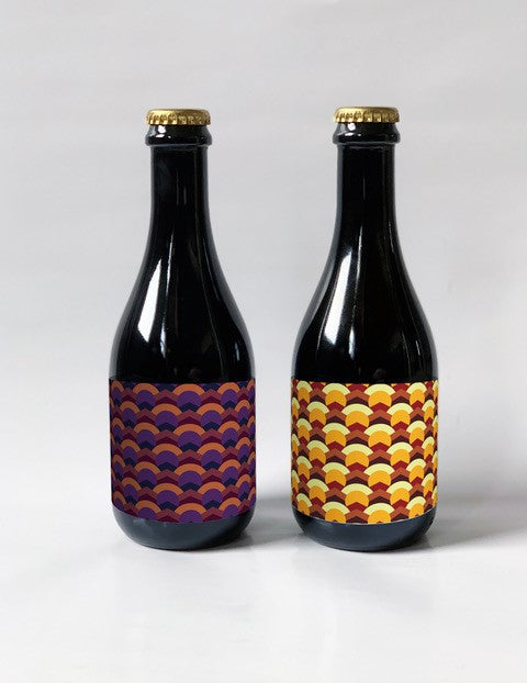 Two 375ml bottles from Brick Brewery's Winterberry Sour Range