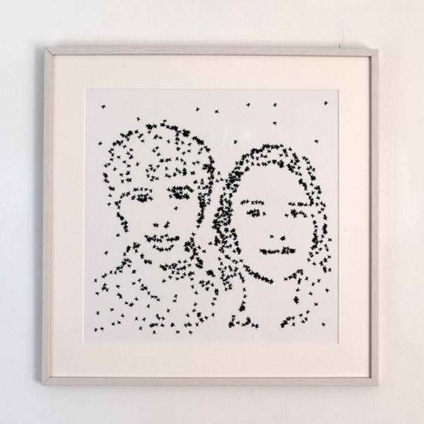 <p>Christa Sommerer & Laurent Mignonneau<p>Portrait On The Fly (Christa & Laurent)
