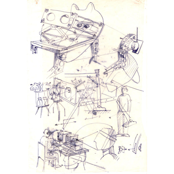 <p>Zaven Paré<p>Preparatory drawing 4