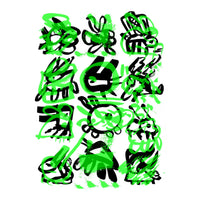 <p>Eduardo Kac<p>Lagoglyphs : The Bunny Variations #4