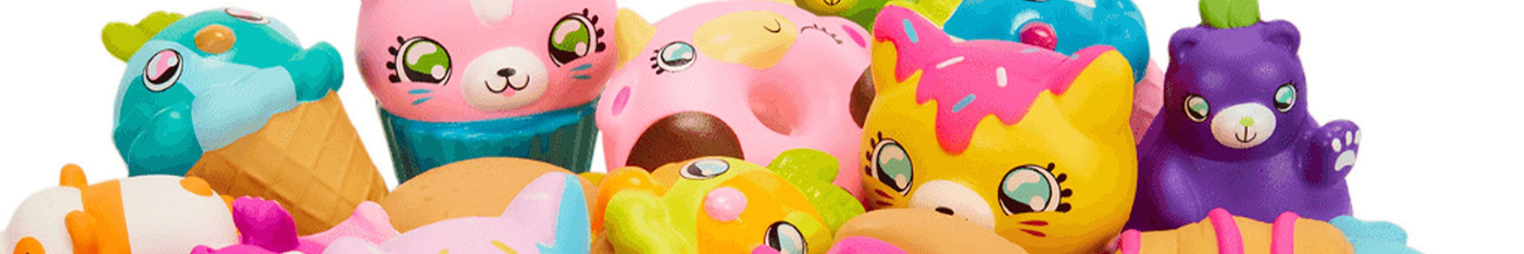 Squishies kawaii sur fond blanc - anti-stress.shop