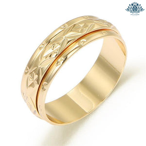 Bague anti-stress femme or