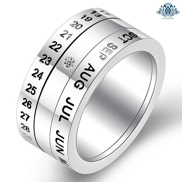 Bague anti-stress homme calendrier