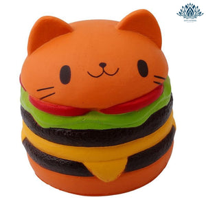 Balle anti-stress Chat Hamburger