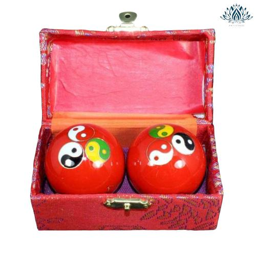 Boules chinoises anti stress Yin Yang