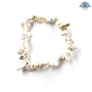 Bracelet anti stress pierre naturelle howlite