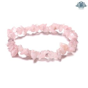 Bracelet anti-stress pierre naturelle quartz rose