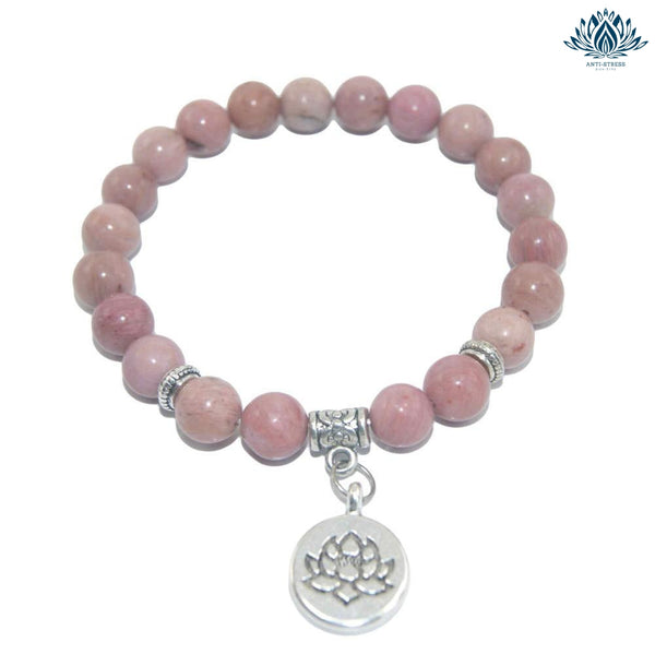 Bracelet anti-stress pierre rhodonite