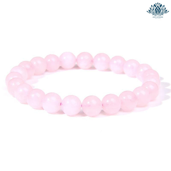 Bracelet anti-stress quartz rose