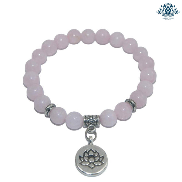 Bracelet pierre anti-stress en quartz rose
