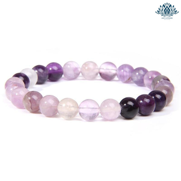 Bracelet pierre naturelle anti stress fluorite pourpre