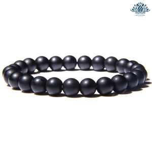 Bracelet pierre naturelle anti stress onyx