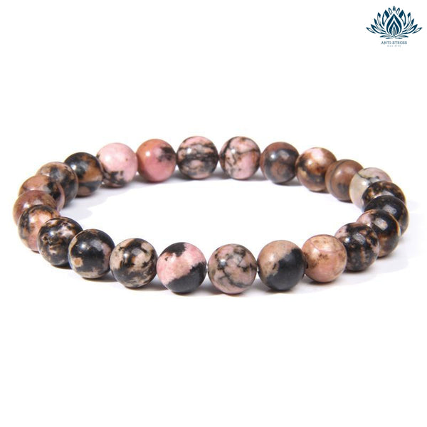 Bracelet pierre naturelle anti stress rhodonite
