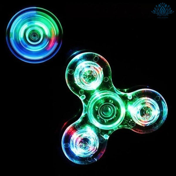 Hand spinner lumineux