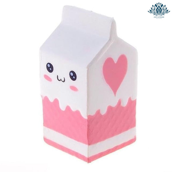 Squishie brique de lait rose