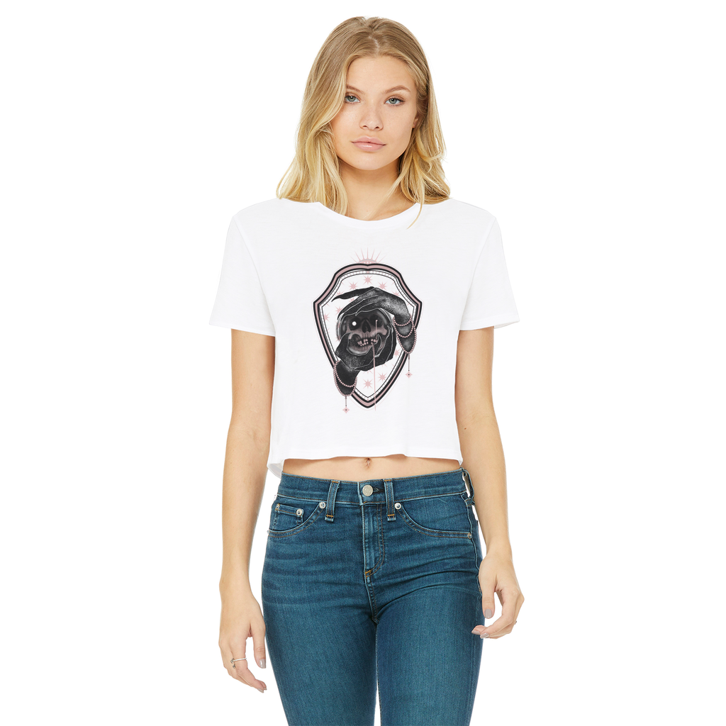 BadLands Classic Women's Cropped Raw Edge T-Shirt