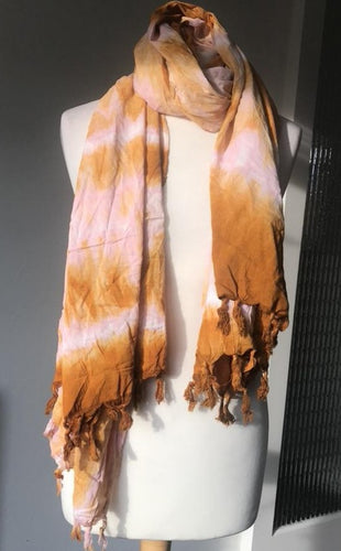 Batik scarf_Orange gradient-Scarf-Letasi Design Studio