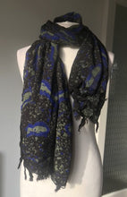 Load image into Gallery viewer, Batik scarf_Blue peacock-Scarf-Letasi Design Studio