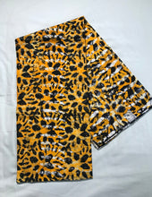 Load image into Gallery viewer, Batik animal print yellow-fabric-Letasi Design Studio