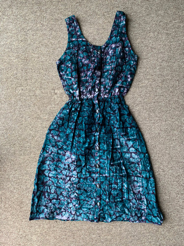 Batik teal animal print_14-Dress-Letasi Design Studio
