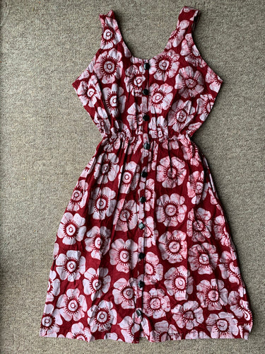 Batik rose red_UK20-Dress-Letasi Design Studio