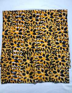 Batik animal print yellow-fabric-Letasi Design Studio