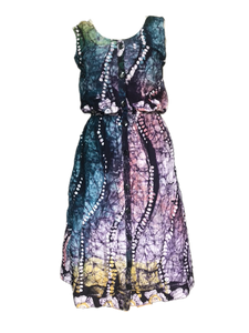 Batik rainbow tentacles-Dress-Letasi Design Studio