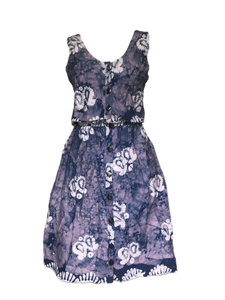 Batik subtle ocean indigo-Dress-Letasi Design Studio