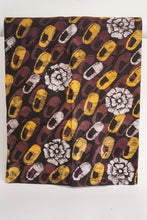 Load image into Gallery viewer, Batik little shoes yellow and brown-fabric-Letasi Design Studio