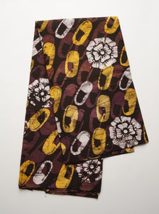 Batik little shoes yellow and brown-fabric-Letasi Design Studio