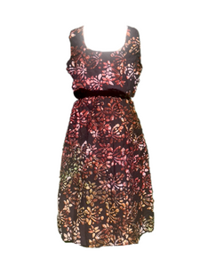 Batik lovely brown autumn colours-Dress-Letasi Design Studio