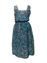 Load image into Gallery viewer, Batik lovely green with white spots-Dress-Letasi Design Studio