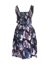Load image into Gallery viewer, Batik purple leaves all over-Dress-Letasi Design Studio