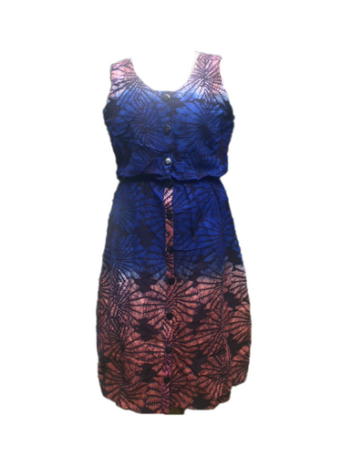 Batik starry blue red-Dress-Letasi Design Studio