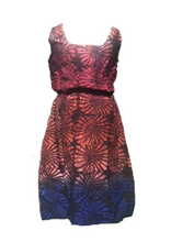 Load image into Gallery viewer, Batik starry blue red-Dress-Letasi Design Studio