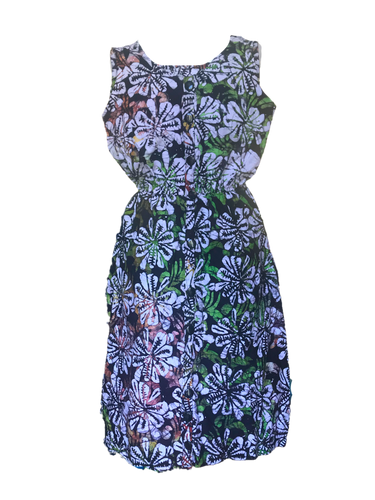 Batik tropical vibe multicoloured-Dress-Letasi Design Studio