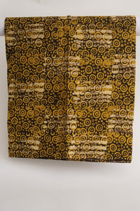 Batik yellow spirals-fabric-Letasi Design Studio