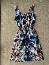 Load image into Gallery viewer, Batik multicoloured circles_UK20-Dress-Letasi Design Studio