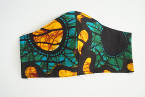 Kitenge facemask-Face masks-Letasi Design Studio
