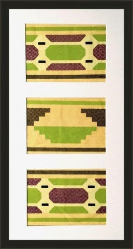 Kente Yellow-Framed Fabric-Letasi Design Studio