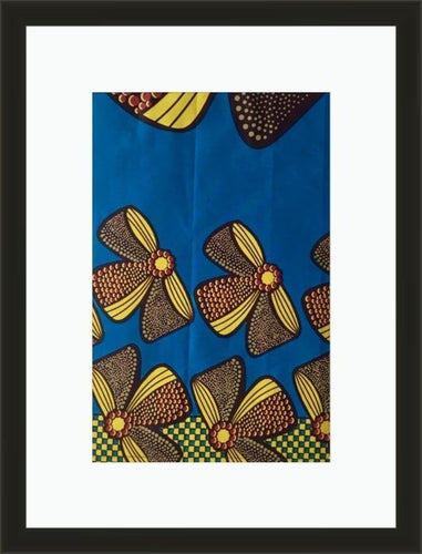 Yellow Bows-Framed fabric-Letasi Design Studio
