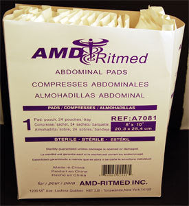 PAD ABD 8 x 10in (24 Count)