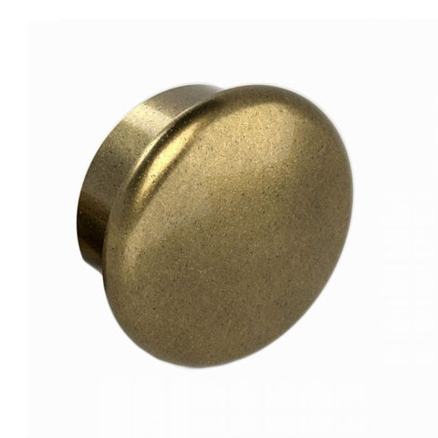 Handrail End Cap, Antique Brass Finish, Clip in Place with Set Screw